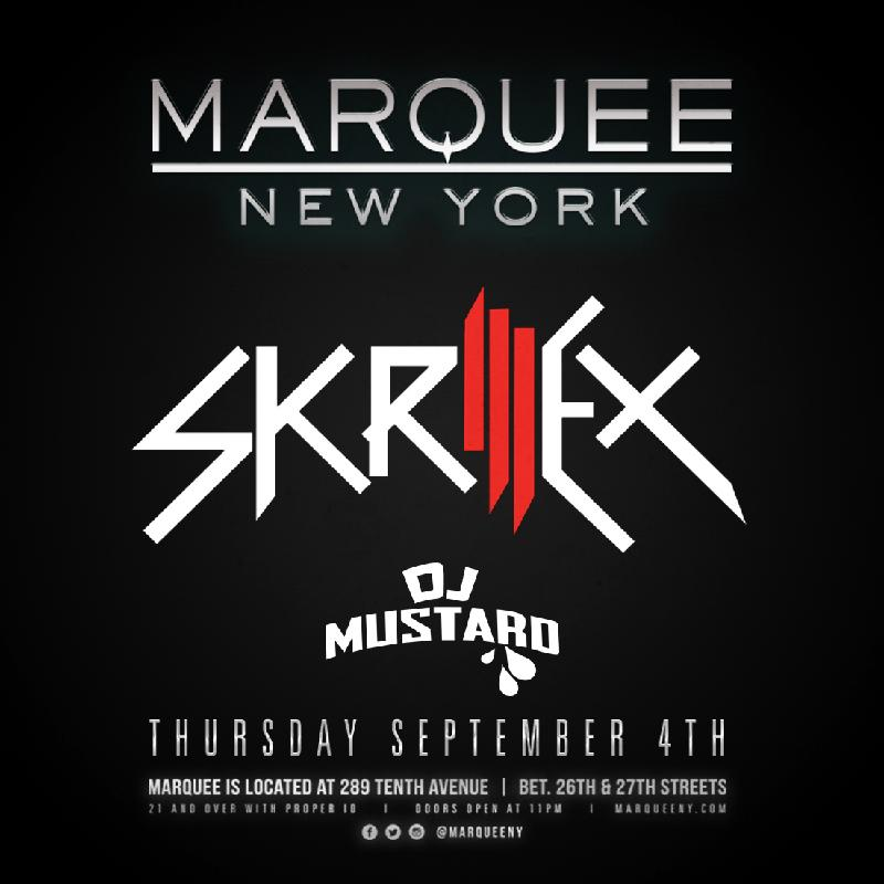 Skrillex at Marquee NY