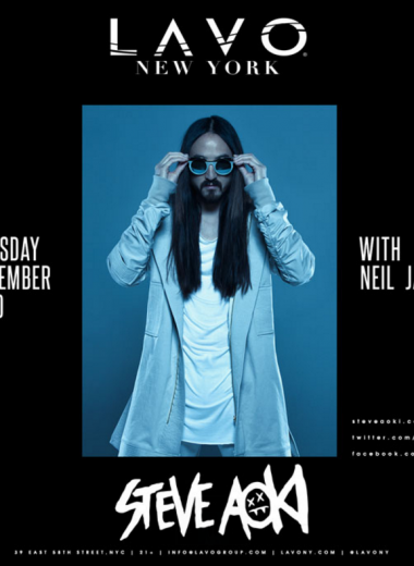 Steve Aoki Returns to Lavo NYC!